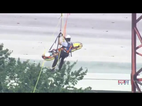 SkyFOX's view: Crane worker rescued 19 stories over Tampa