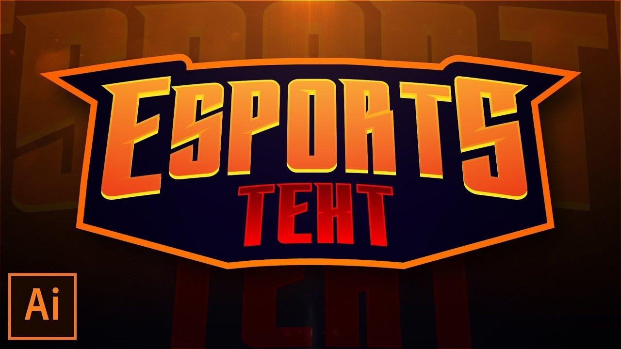 Mascot/Sporty/Esport Text Logo Design Tutorial V3 in Illustrator CC 2018