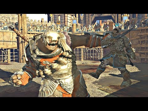 Shadow of War - HIGH Level Epic Boss vs Boss Arena Pit Fights CHAMPIONS