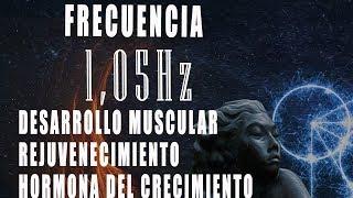 Sonido Binaural 1,05 Hz rejuvenecimiento, Desarrollo muscula...