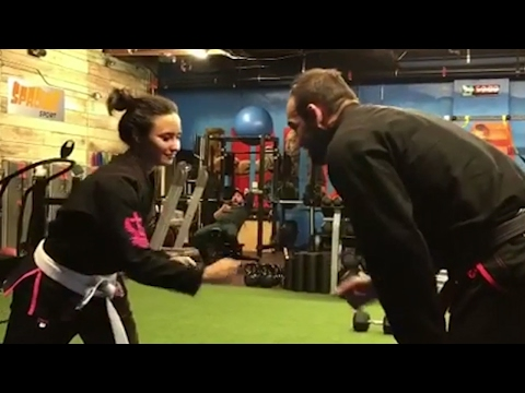 Demi Lovato Kicks Her MMA Boyfriend's Butt During Sparring Session