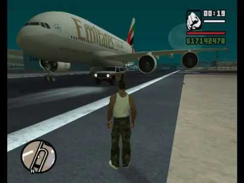 The biggest <b>plane</b> on <b>GTA San Andreas</b> - YouTube