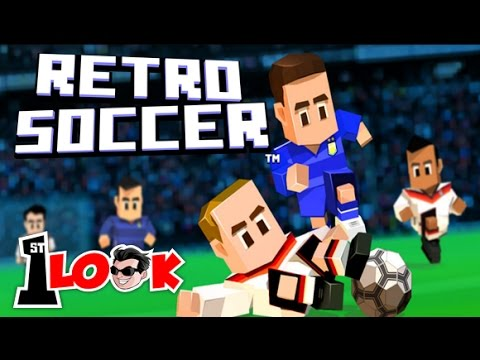 RETRO SOCCER - BEST Arcade Soccer on Mobile  !! (1st Look iOS Gameplay)
