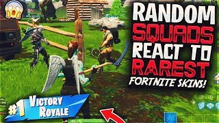 RANDOM SQUAD PARTNERS REACT TO THE RAREST FORTNITE SKINS (SKULL TROOPER & GHOUL TROOPER)
