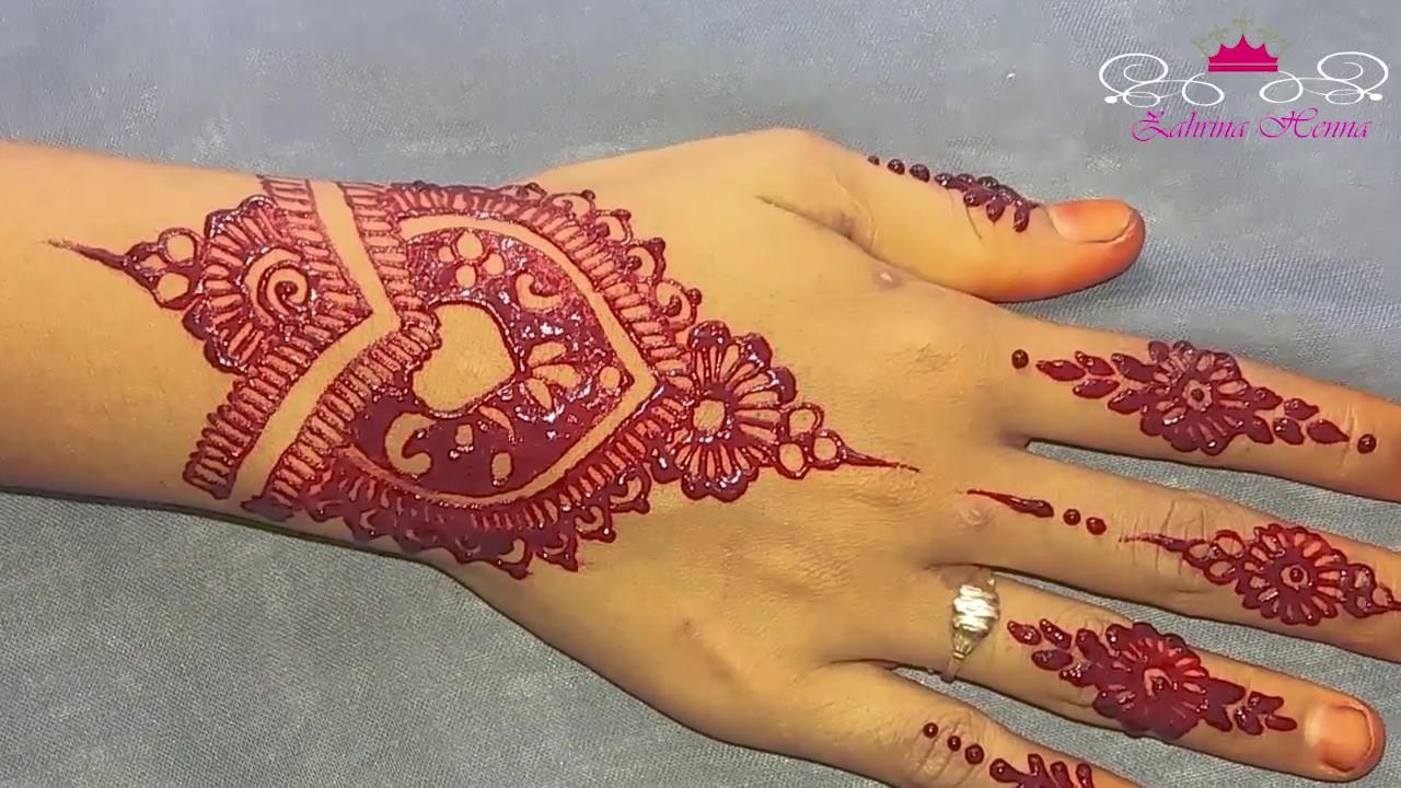 Tutorial Henna Wedding Simple By Zahrina Henna Youtube