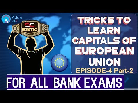 Capitals of European Union - Static GK Tricks - (Part-2)