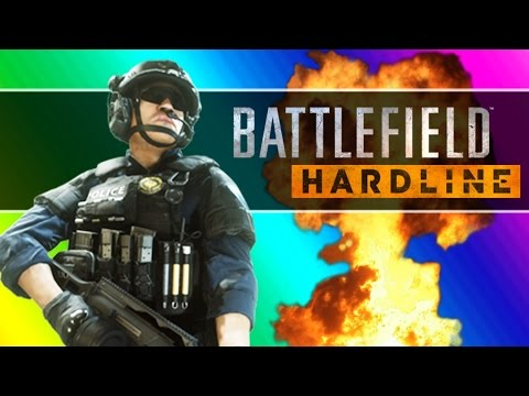 battlefield-hardline-beta-funny-moments---following-fun,-motorcycle-friends,-climbing-up-the-crane!