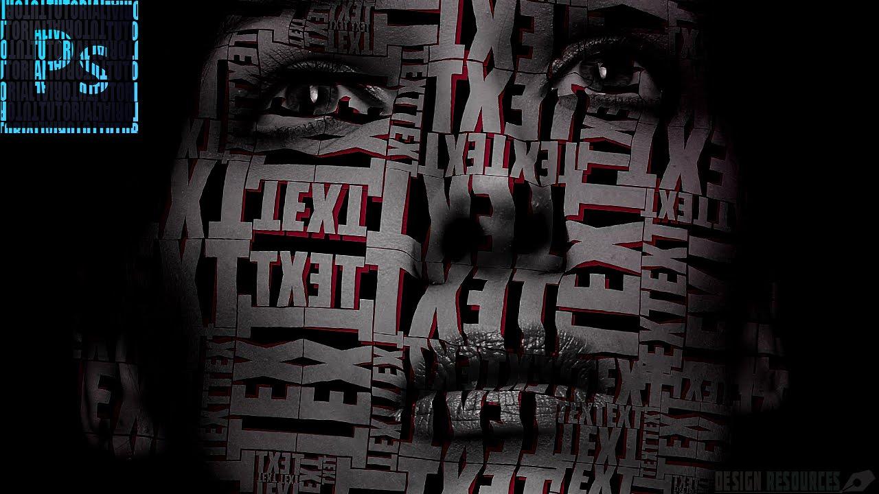 Transform A Picture Into Cool Text Portrait Photoshop Tutorial