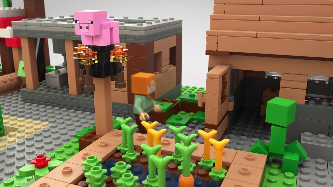 160340a89 LEGO® Minecraft™ - 21128 Vesnice - YouTube