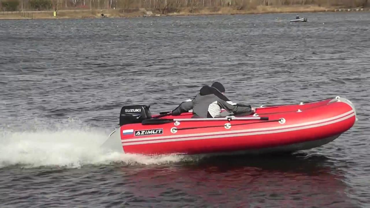 Транцевые колеса для лодки ПВХ с НДНД - YouTube