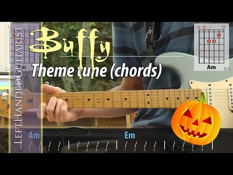 Buffy The Vampire Slayer theme - guitar lesson (chords) - YouTube