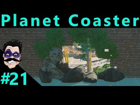 #21 Lost Gardens Dragon Coaster Foliage and Wall Hole - Let's Play Planet Coaster Hard Mode