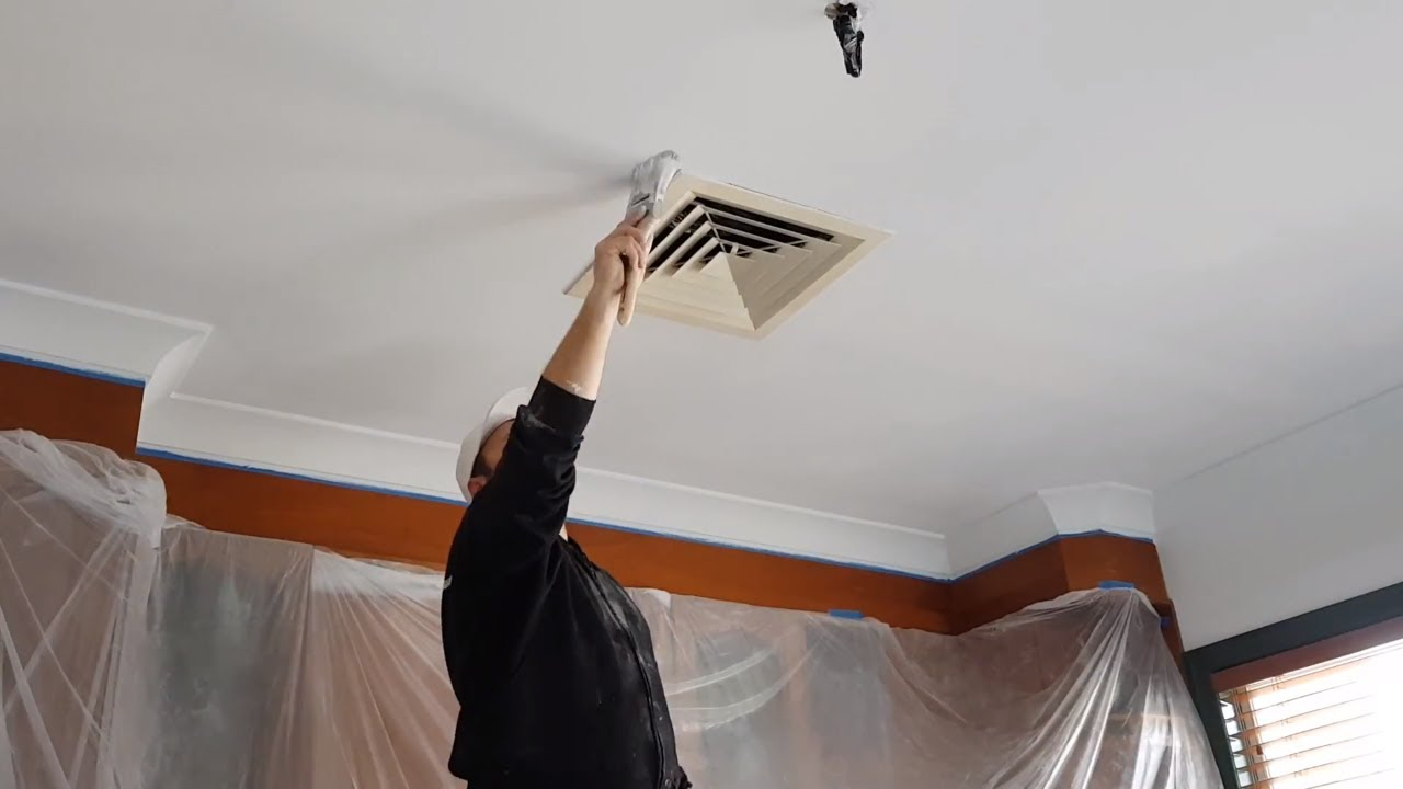 How To Paint Drywall Plaster Ceiling