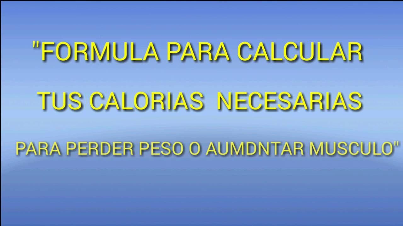 calcular mis calorias para bajar peso
