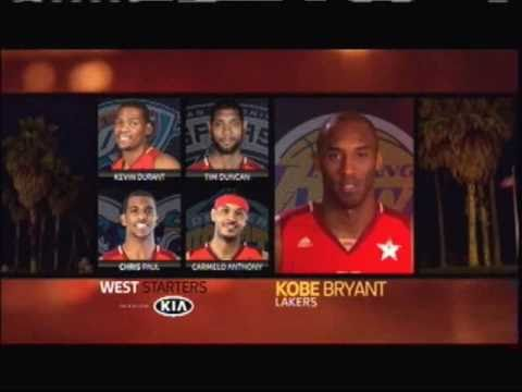 2011 NBA All Star Starters Intros by Kobe Bryant & Dwight Howard
