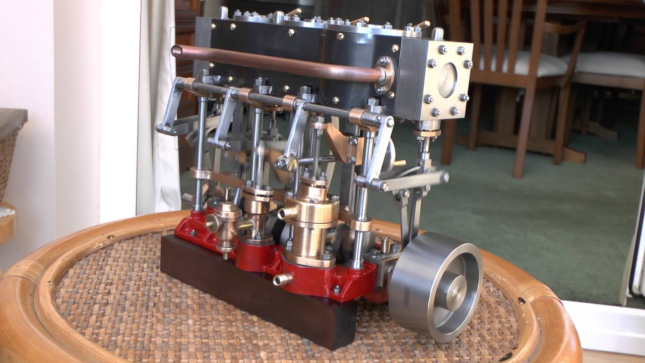Stuart Triple Expansion Steam Engine Youtube