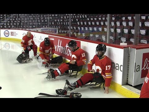 Calgary Flames Sponsor Sledge Hockey Team For USA Hockey Sled Classic