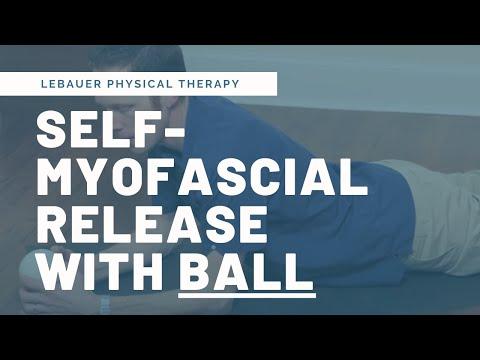 Self Myofascial Release Exercises with a ball - Greensboro, NC - yellow ball video