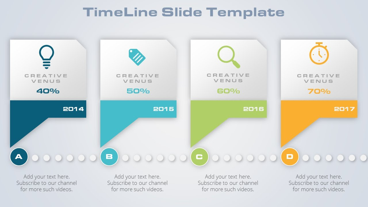 how to design timeline graphics for business slide in microsoft