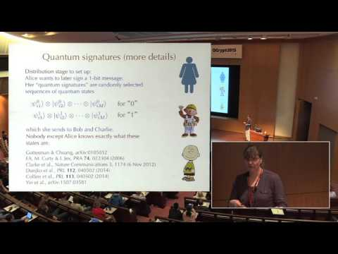 Erika Andersson - Unconditionally secure quantum signatures