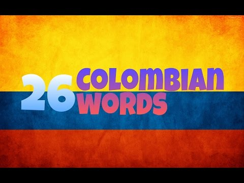 26 Colombian words