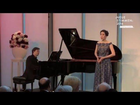 "NEUE STIMMEN 2016 - Prizewinners concert: Miriam Albano sings ""Deh, per questo istante solo"""