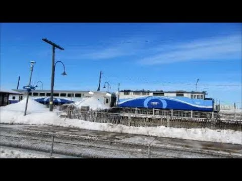 MONTREAL AMT COMMUTER TRAINS IN ACTION