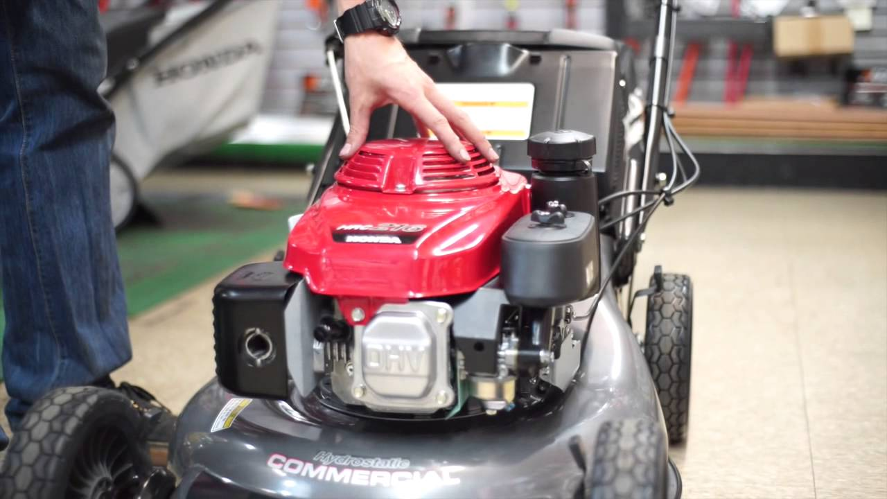Honda HRC216HXA Commercial Lawn Mower - YouTube