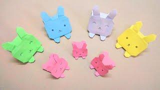Gấp con thỏ bằng giấy siêu cute - Origami cute rabbit - Gấp Giấy Origami