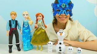 Видео для детей: Холодное Сердце - Анна Кристоф и Олаф спасают Эльзу из ледяного плена Леди Зимы