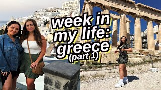 week in my life: greece | athens, santorini and travel day
