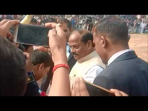 मुख्यमंत्री रघुवर दास का ओरमांझी में मोटरसाइकिल से रोड शो