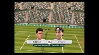Grand Slam Tennis (Wii): Singles - Novak Djokovic vs Roger Federer