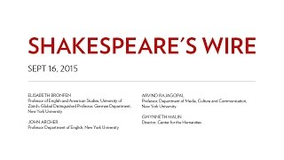NYU | Shakespeare's Wire | 16.09.2015