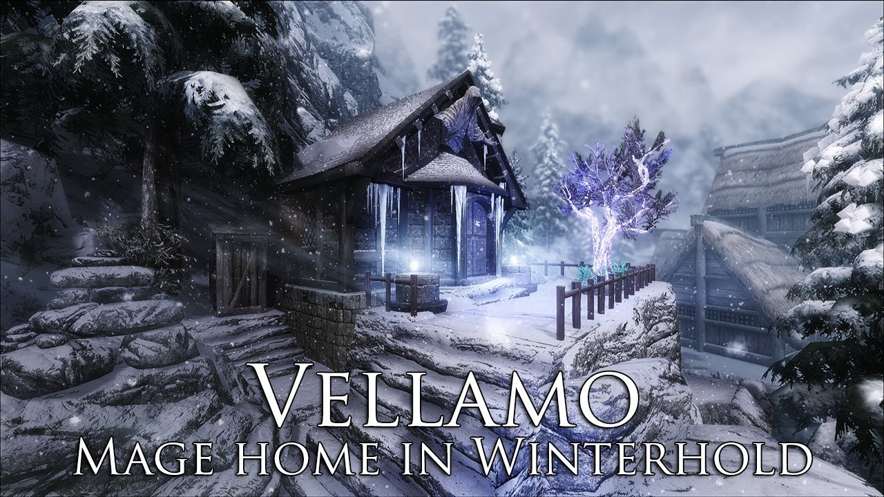 Best Skyrim House Mods 2020 TES V   Skyrim Mods: Vellamo   Mage home in Winterhold   YouTube