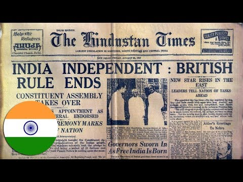 INDIA INDEPENDENT : British Rule Ends Old News Paper