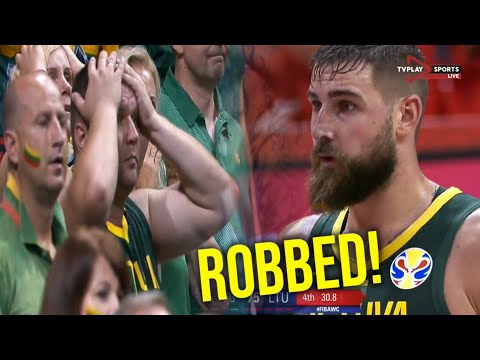 HUGE Referee Mistake In Final Seconds   LITHUANIA V FRANCE  FIBA WC 2019