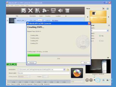 4Media MP4 to DVD Converter demonstration