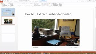 Video How To... Extract an Embedded Video from a PowerPoint Presentation download MP3, 3GP, MP4, WEBM, AVI, FLV Maret 2018