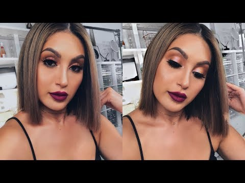 CHIT CHAT GET READY WITH ME FALL MAKEUP | BEAUTYYBIRD