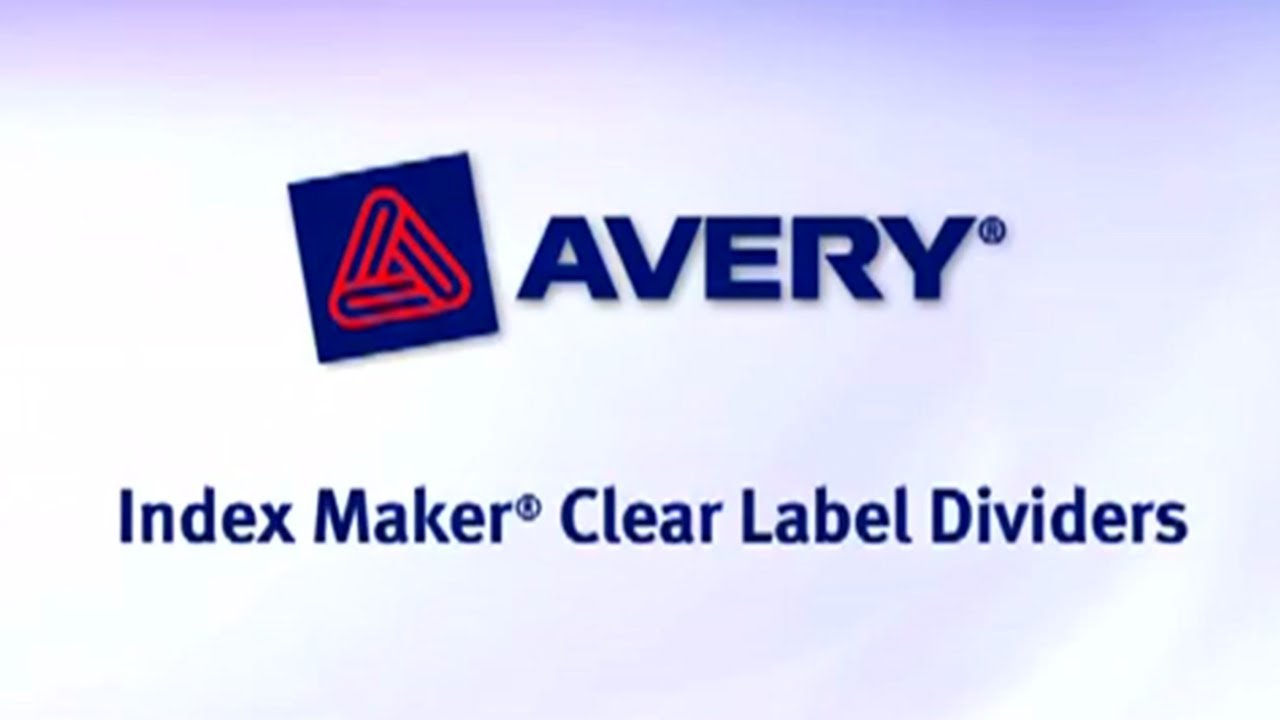 Avery Index Maker Clear Label Dividers