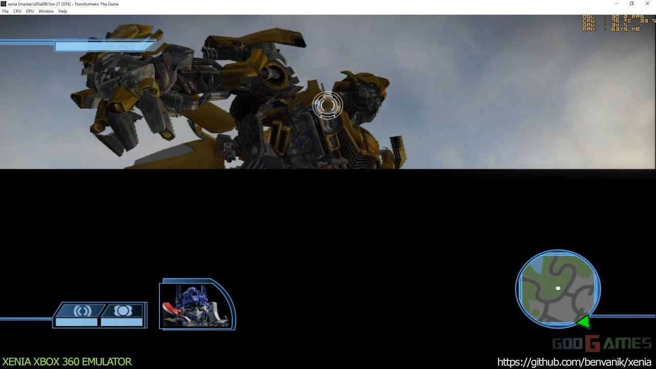 Xenia Xbox 360 Emulator - Transformers: The Game ingame! (e95a08f/Jun 21  2016)