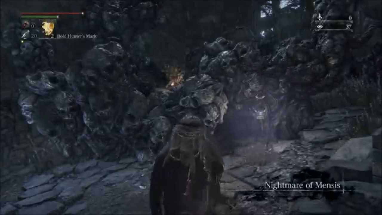 Bloodborne Nightmare of Mensis Get to Second Lamp Save Point - YouTube