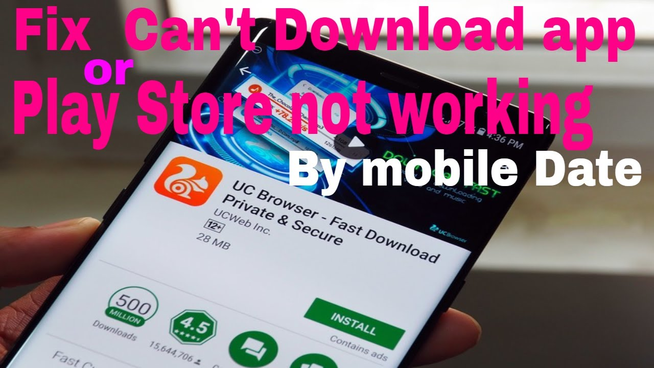 I can't download any apps Or not working play store using my mobile data