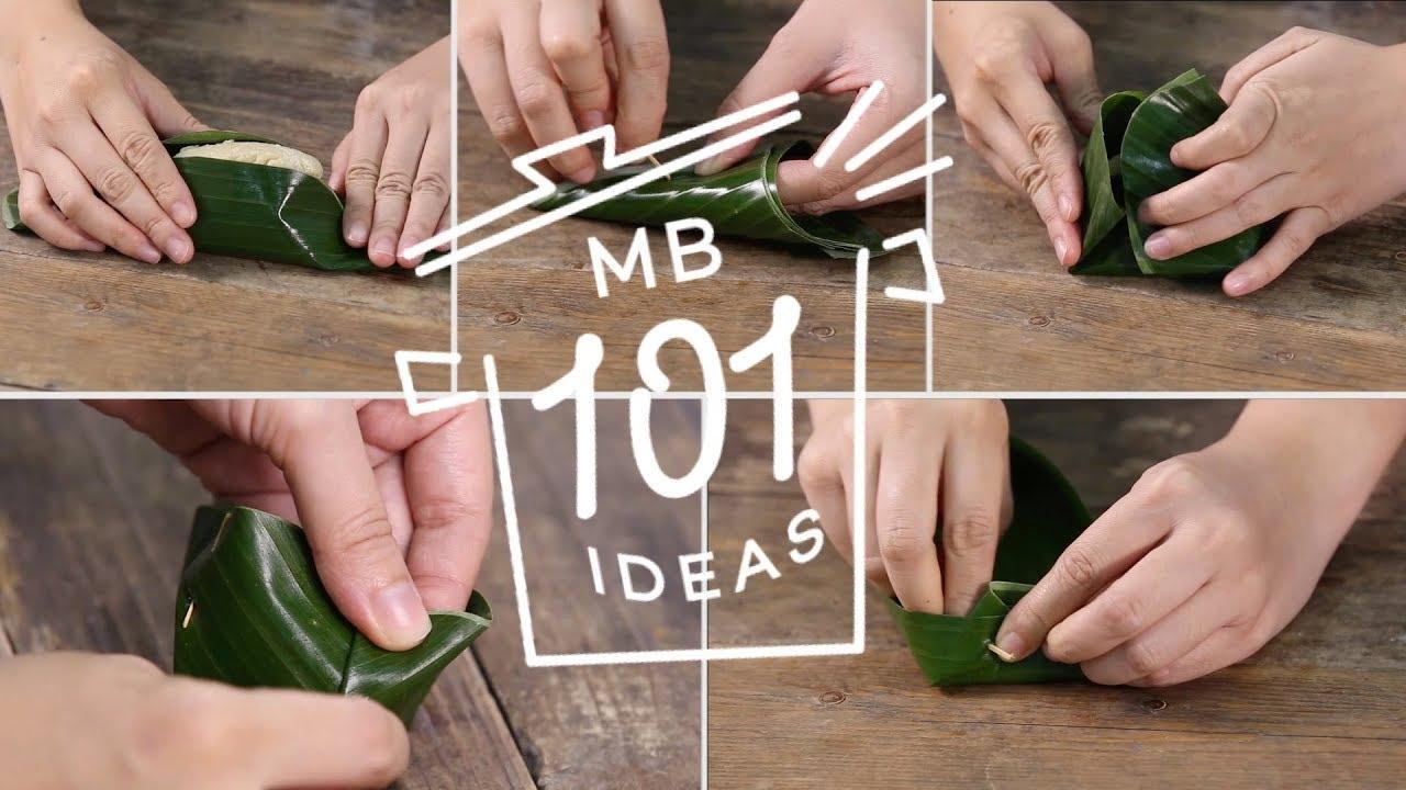 MB 101 ideas   วิธีห่อใบตองแบบต่าง ๆ