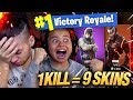 Download 1 KILL = 9 FREE SKINS FOR MY 9 YEAR OLD LITTLE BROTHER! 9 YEAR OLD PLAYS SOLO FORTNITE BATTLE ROYALE