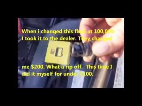2011 DODGE GRAND CARAVAN 3.6 L TRANSMISSION FLUID and FILTER CHANGE