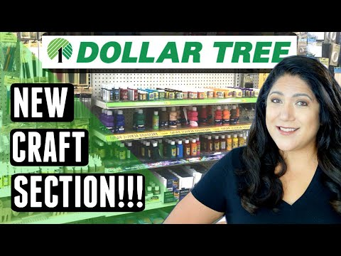 NEW DOLLAR TREE Craft Section - It's Crazy Big!