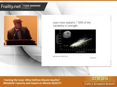 """ICFSR 2016 - Prof. Todd MANNINI: """"Framing the Issue: What Defines Muscle Quality?"""""""