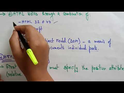 DHTML | Web Technology | Lec-20 | Bhanu Priya